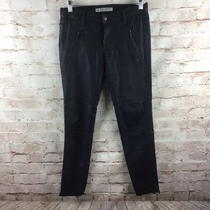 J Brand Agnes Waxed Coated Jeans Zip Leg Size 28